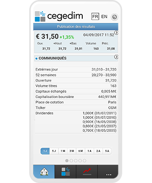 Application mobile Cegedim IR